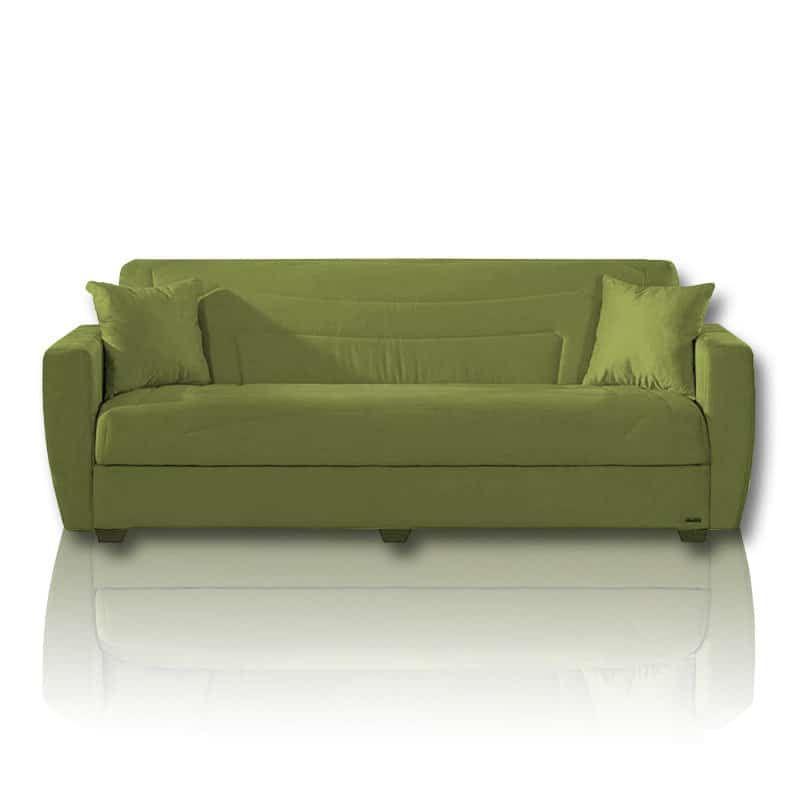 Schlafsofa grün  ISTIKBAL Schlafsofa - grün - Microfaser - inklusive Kissen Jetzt ...