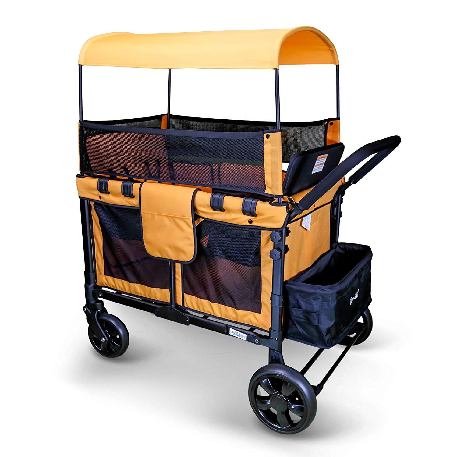 WonderFold 2-in-1 Heavy Duty Collapsible Folding Wagon Garden Safe Utility Cart