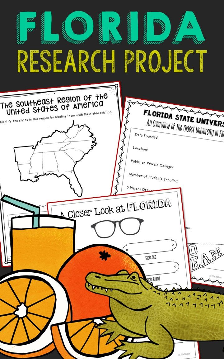 FLORIDA State History Guided Research Project, Notebook Journal ...