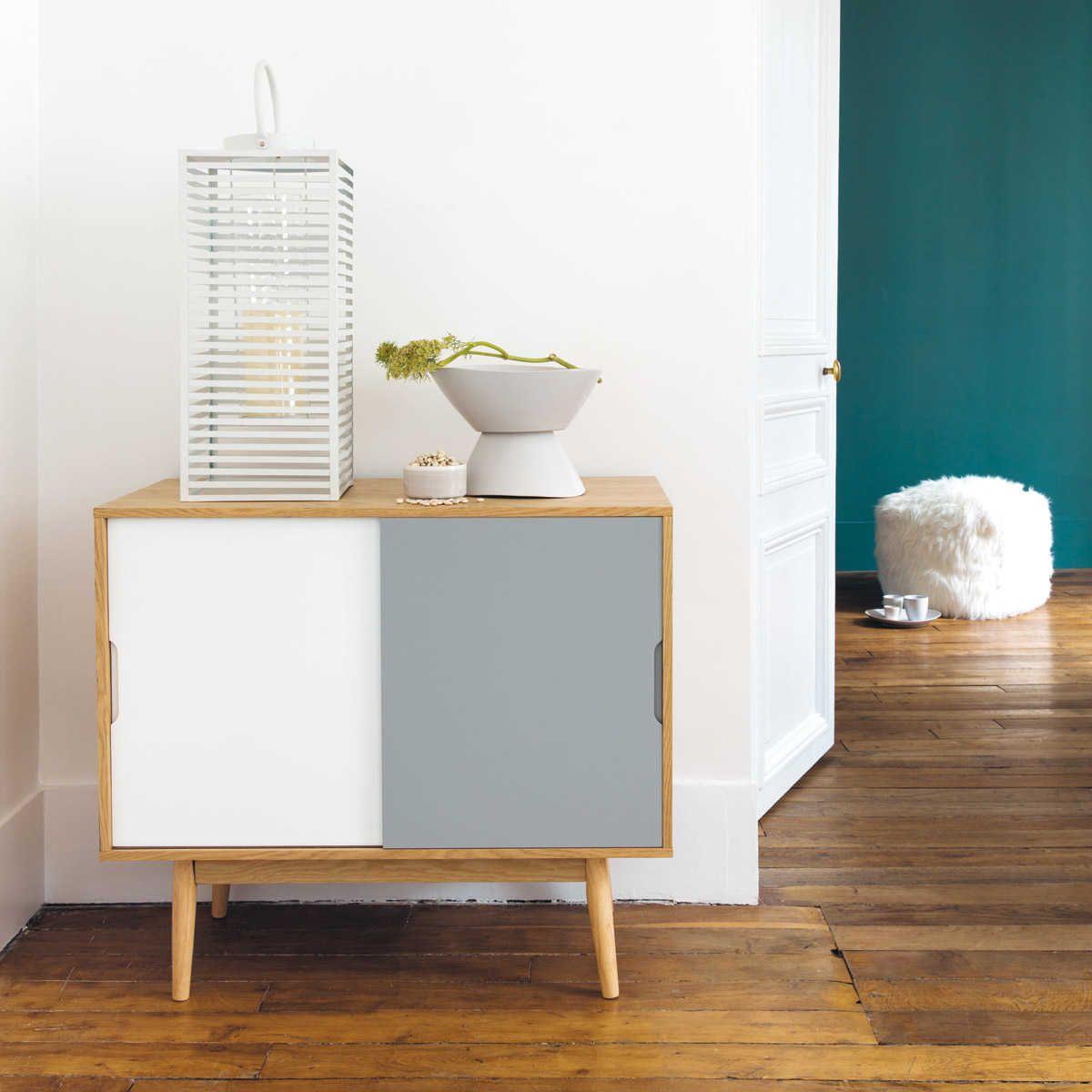 buffet vintage blanc et gris home accessories maison. Black Bedroom Furniture Sets. Home Design Ideas