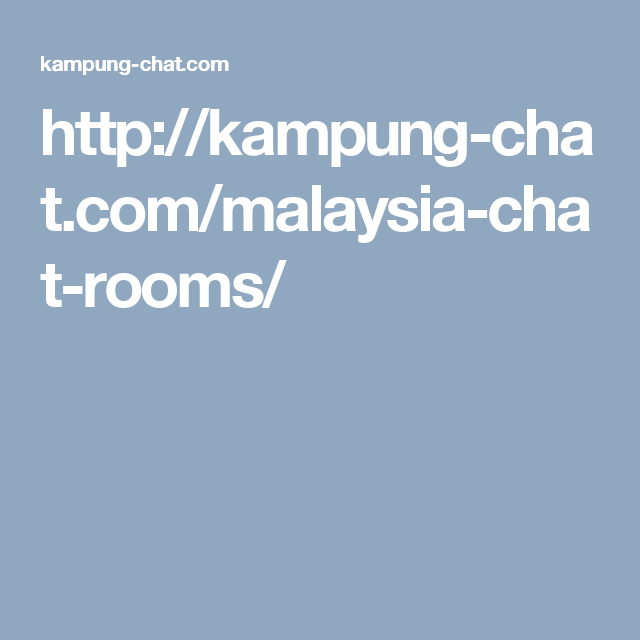 Chat room kampung