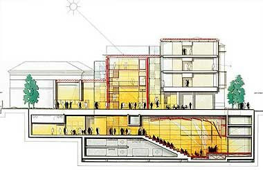 Architecture Drawings The Morgan Library Renzo Piano
