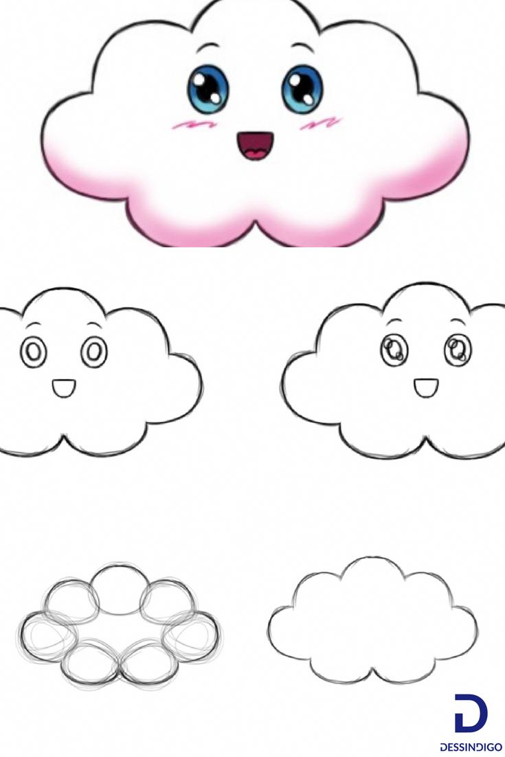 5 Dessins Faciles A Faire Ici On Detaille Comment Dessiner Un Petit Nuage Facilement Etape Par Etape Tuto Dessins Faciles Dessin Facile A Faire Dessin Nuage