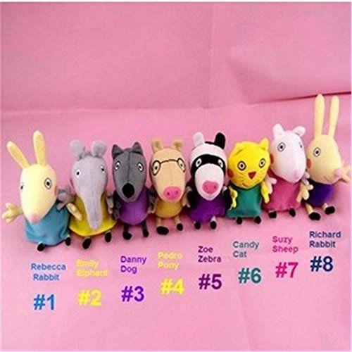Peppa Pig Series Plush Toy Peppa And George S Friends 8pcs Set