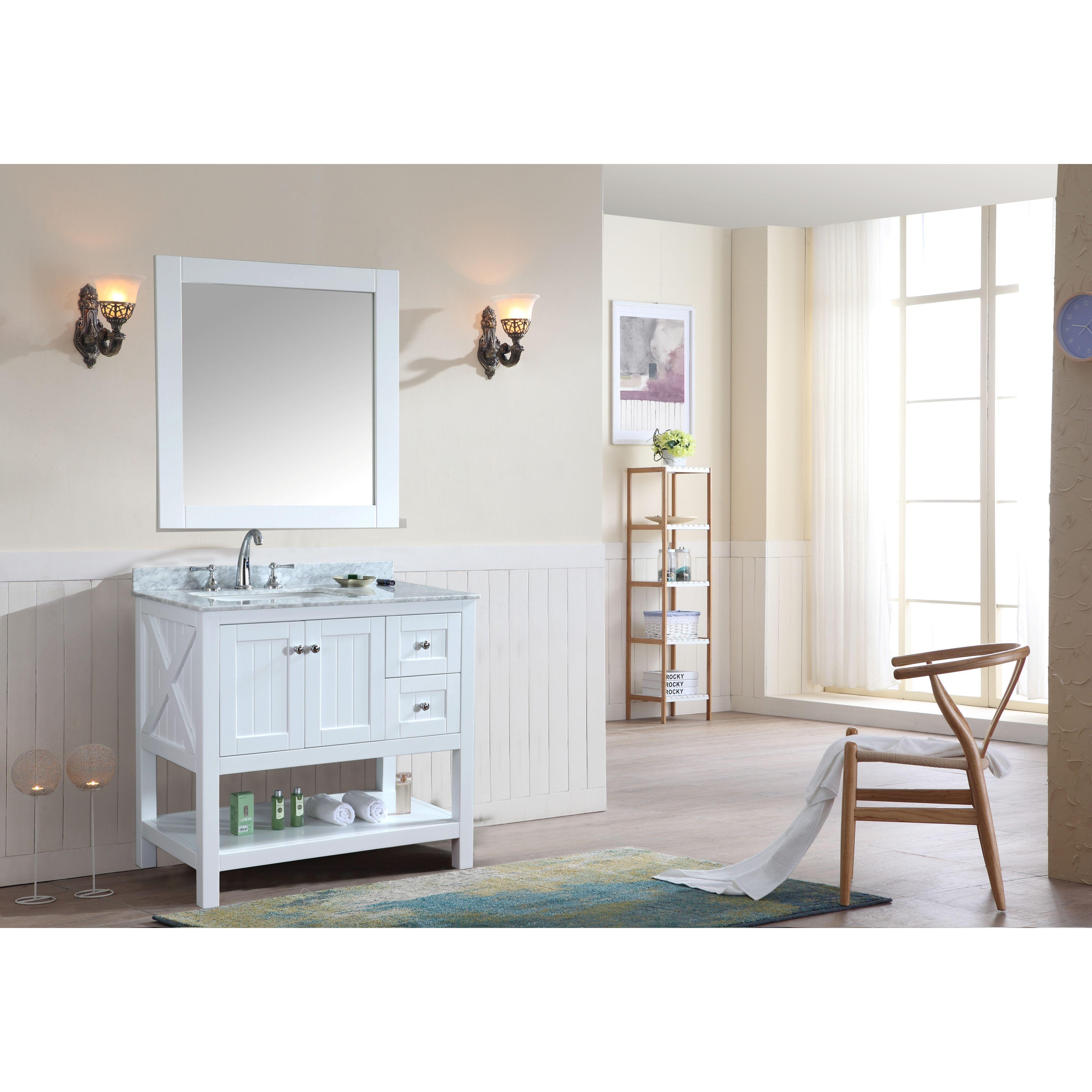 Sets bathroom vanity ari kitchen second - Ari Kitchen Bath Emily 36 Single Bathroom Vanity Set With Mirror