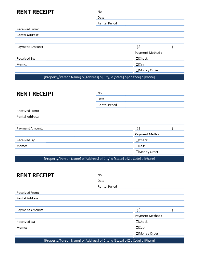 Rent Receipt Template  Download This Printable Rent Receipt