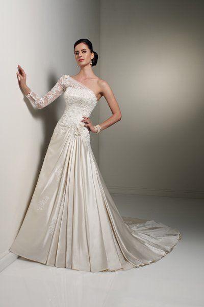 a35cbbe19d65 Sophia Tollia - I like the one arm lace look I think. Sophia Tolli Wedding  Dresses ...