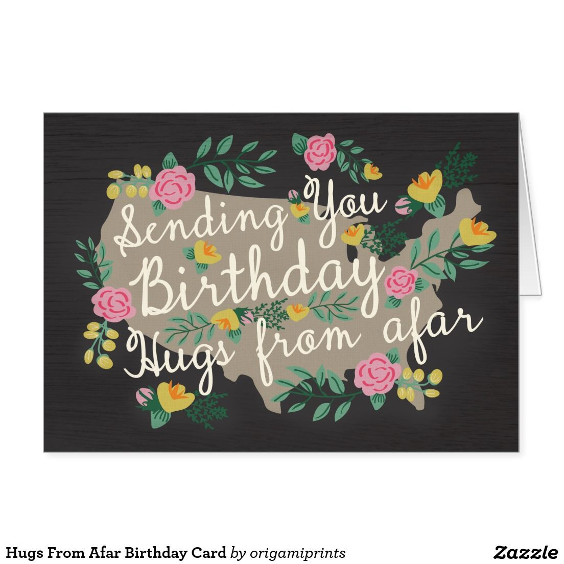 Hugs from afar birthday card america pinterest hug shop hugs from afar birthday card created by origamiprints kristyandbryce Images
