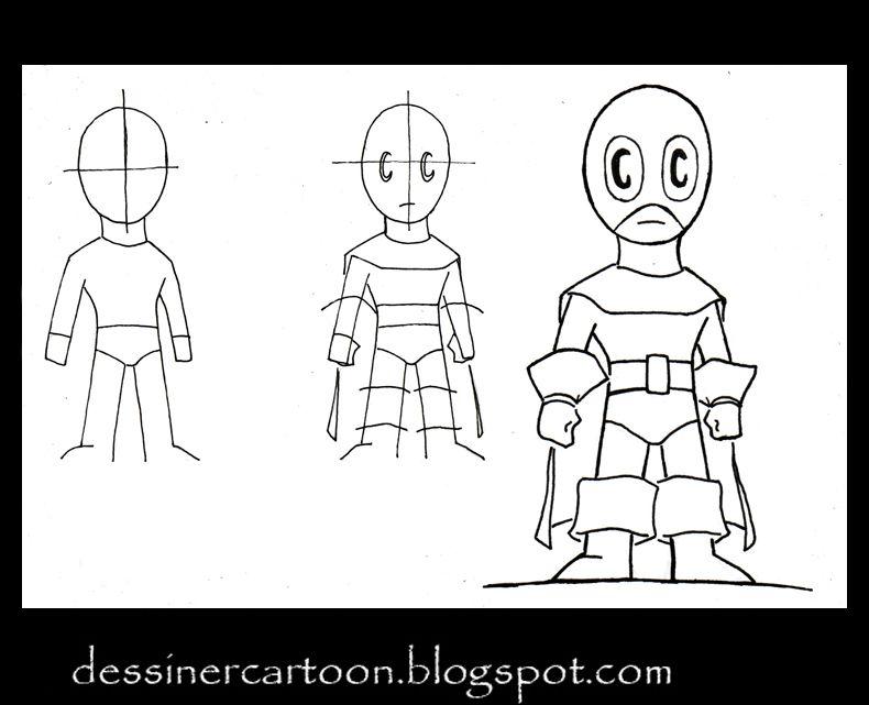 Dessiner cartoon comment dessiner un chibi super h ros - Super heros a dessiner ...