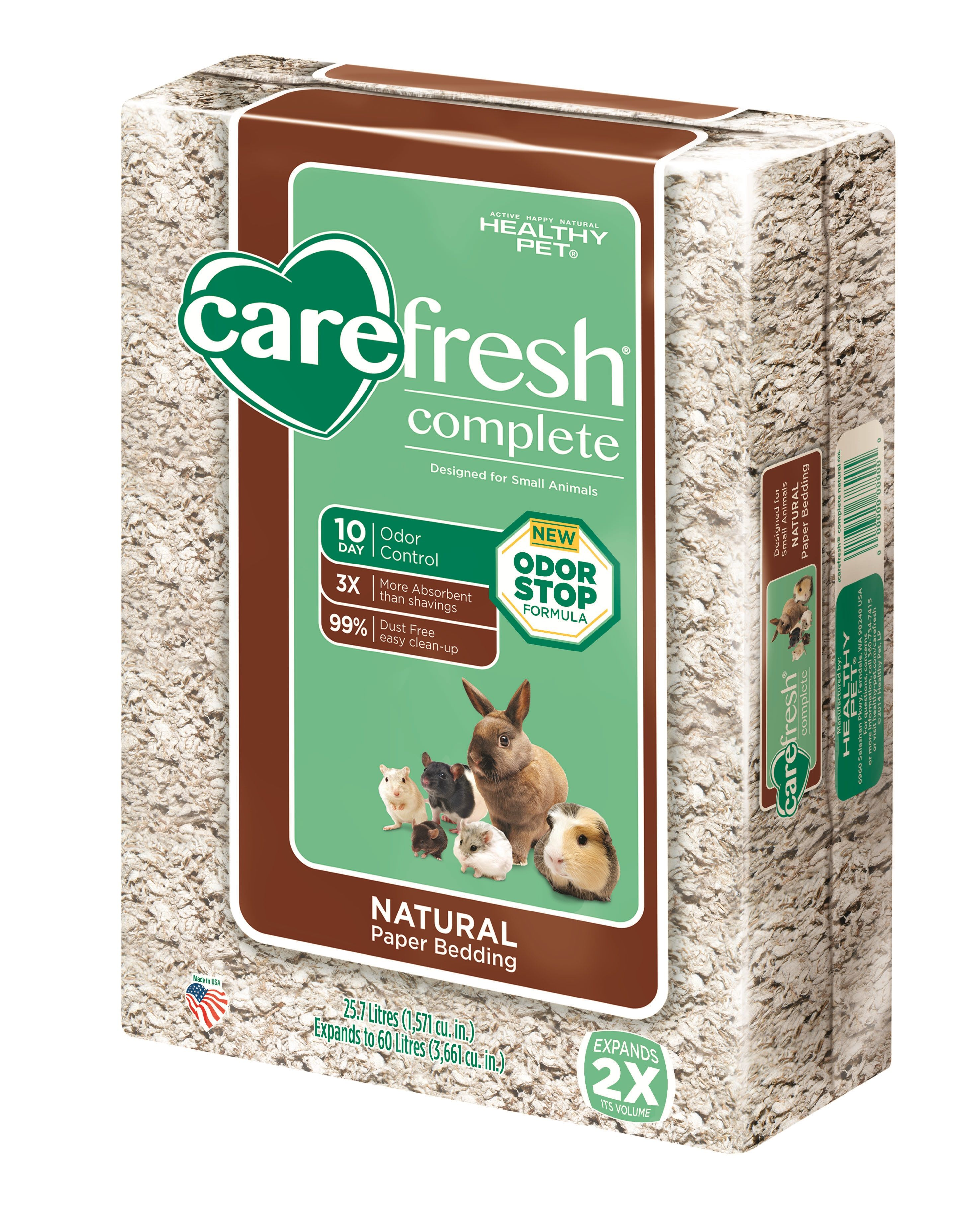 Carefresh Complete Natural small animal bedding by Healthy