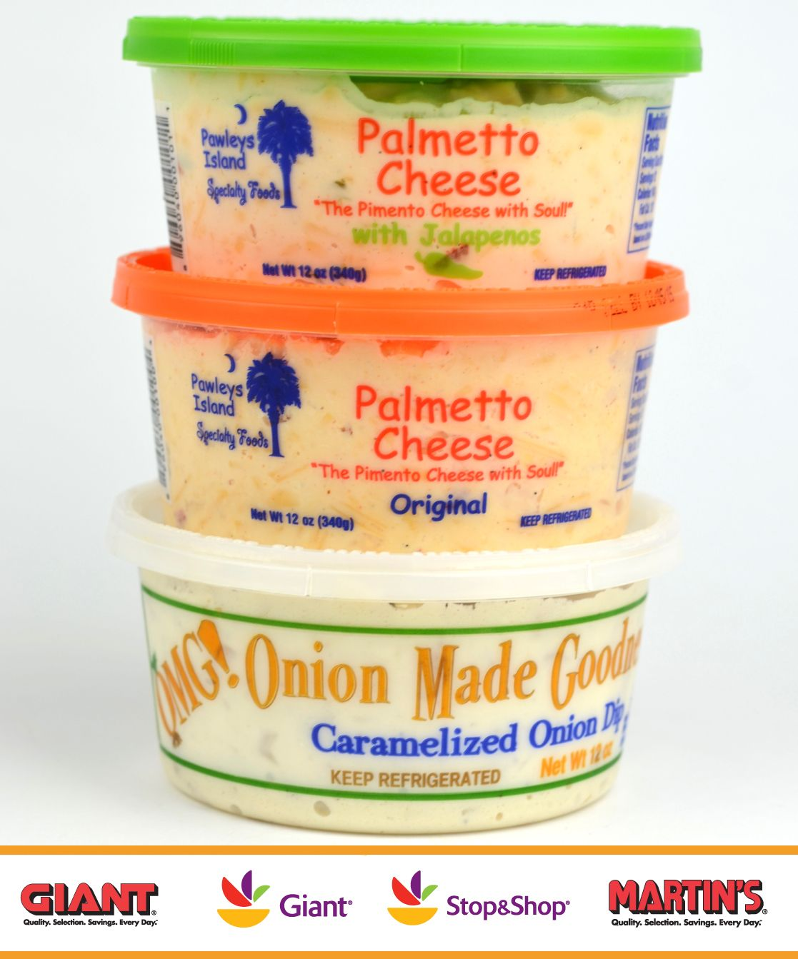 Palmetto Cheese And Omg Dip Are On Sale For 1 Off At All Giant Foods Stop Shop And Martins Food Markets From Oc Palmetto Cheese Giant Food Pimento Cheese