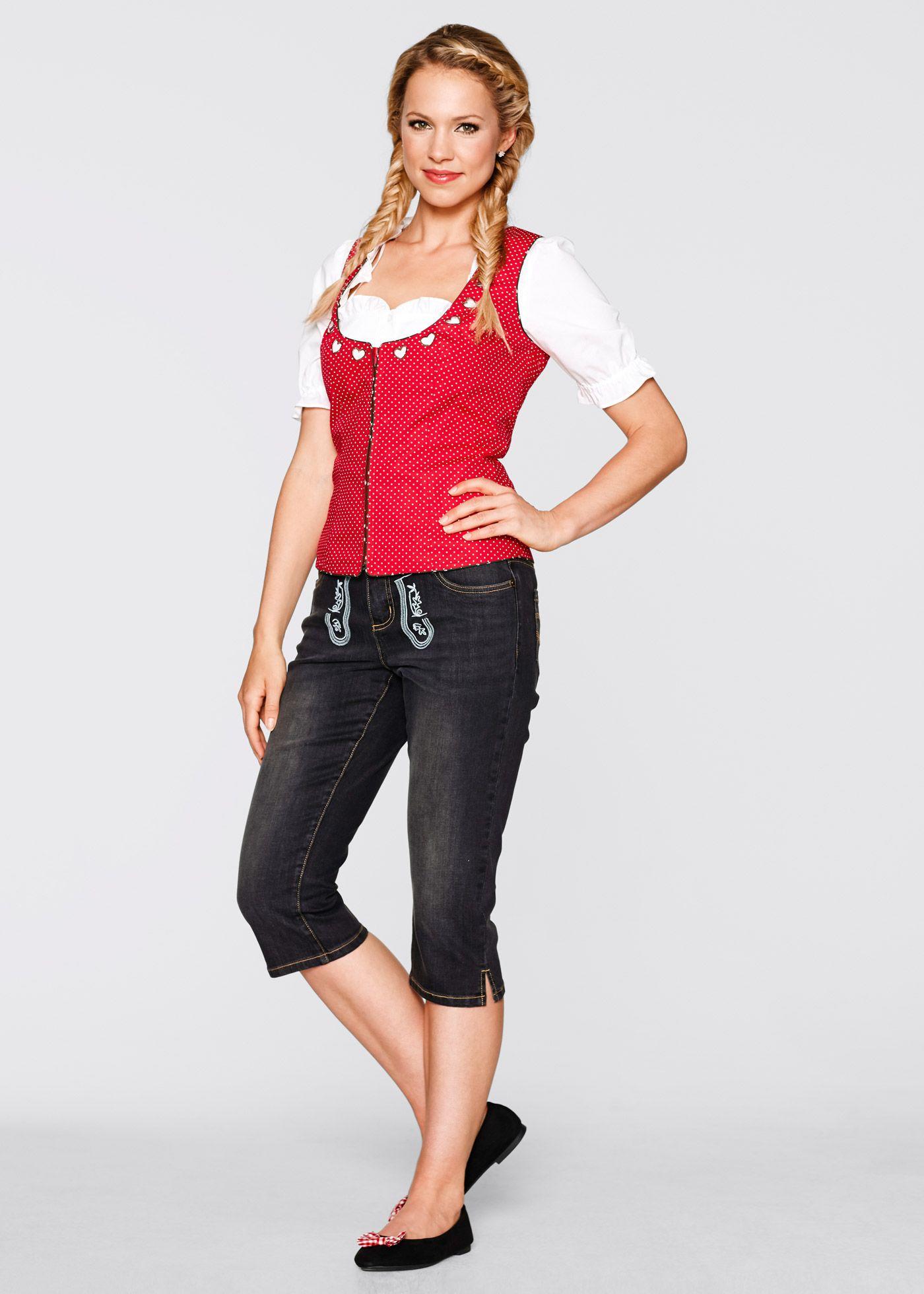 4754d547303b29 Trachtenkorsage mit Reißverschluss rot gepunktet - bpc bonprix collection  jetzt im Online Shop von bonprix.de ab   24