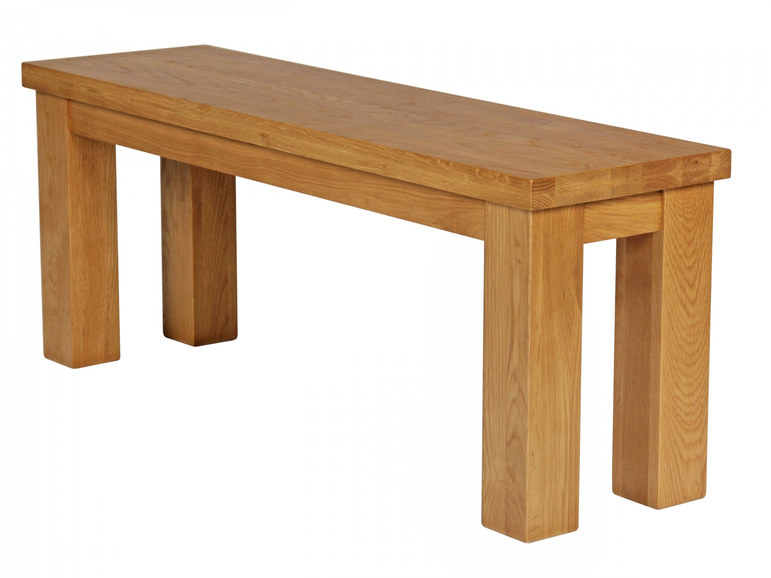 Solid American Oak 120cm Long Dining Bench From The Country Oak Range.Made  From Solid