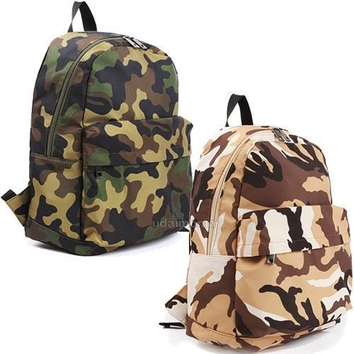 Camo Camouflage Backpacks Bookbags Bags Military Army Style Backpack School  Bag 1f0a113a206eb