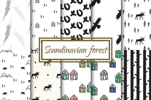 Scandinavian Forest Seamless Pattern - Patterns pattern Pinterest