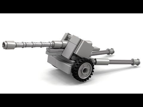 Lego WWII PaK-40 Instructions - YouTube