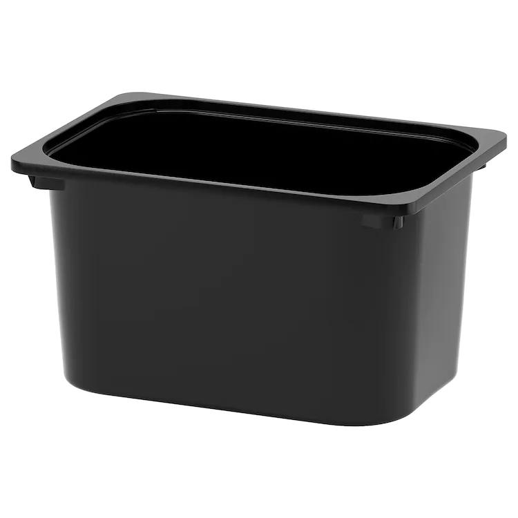 Trofast Bac Noir 42x30x23 Cm En 2020 Ikea Rangement Buanderie Rangement Bas