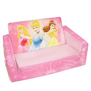 disney flip open sofa bed good leather conditioner for marshmallow princess theme the couch mom bought these things are loved by toddlers their very own