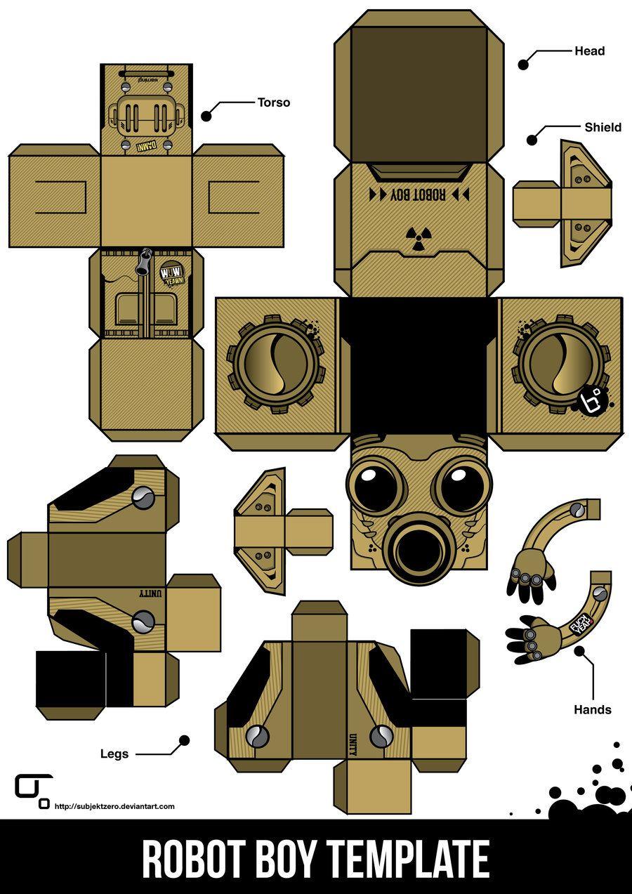Foldable Paper Craft Robot Google Search Caixinhas Para