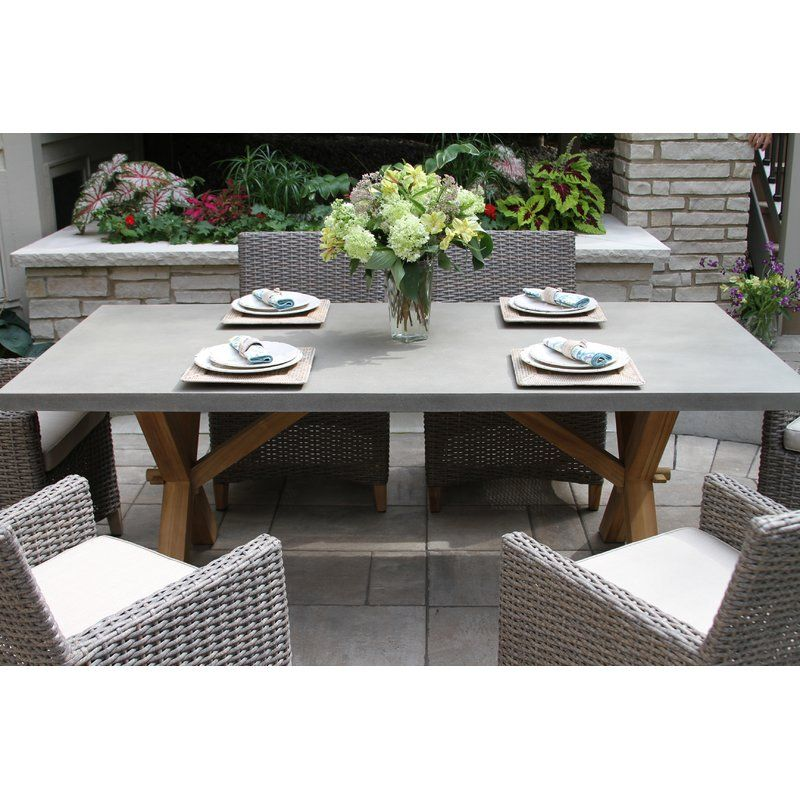 Gracie Oaks Marcel Stone Concrete Dining Table Wayfair With