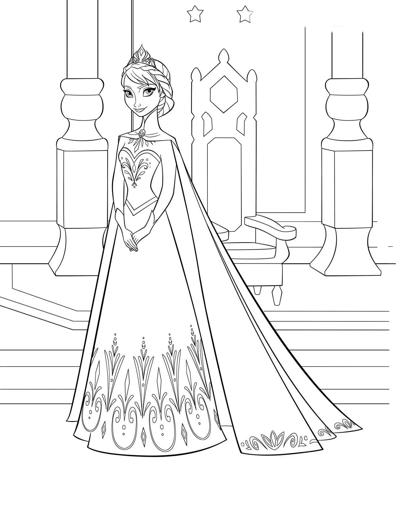 desenhos para pintar elsa frozen | Frozen e Elsa | Pinterest