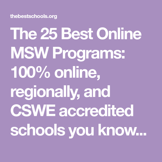 The 25 Best Master Of Social Work (MSW) Online Degree