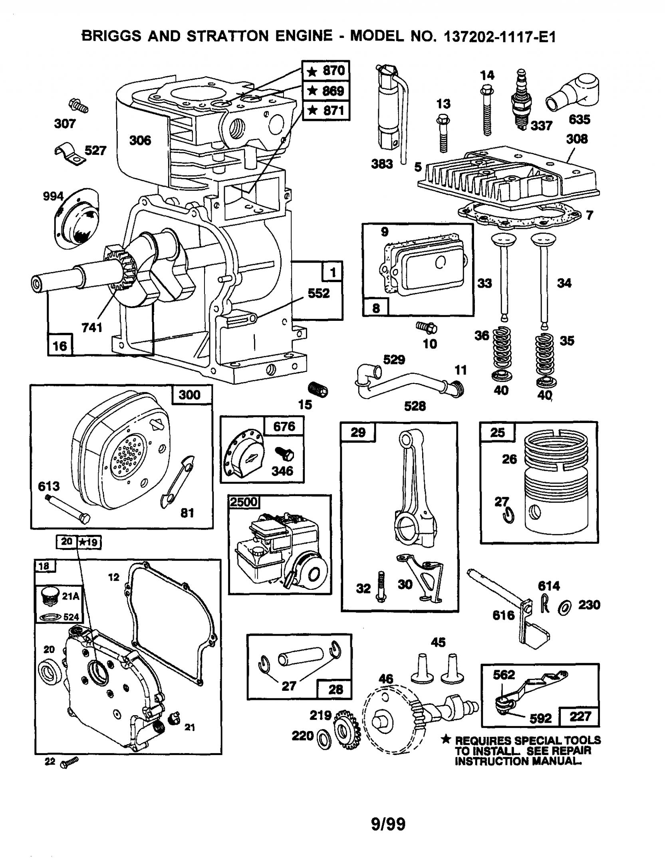 Small Engine Diagram Briggs Stratton