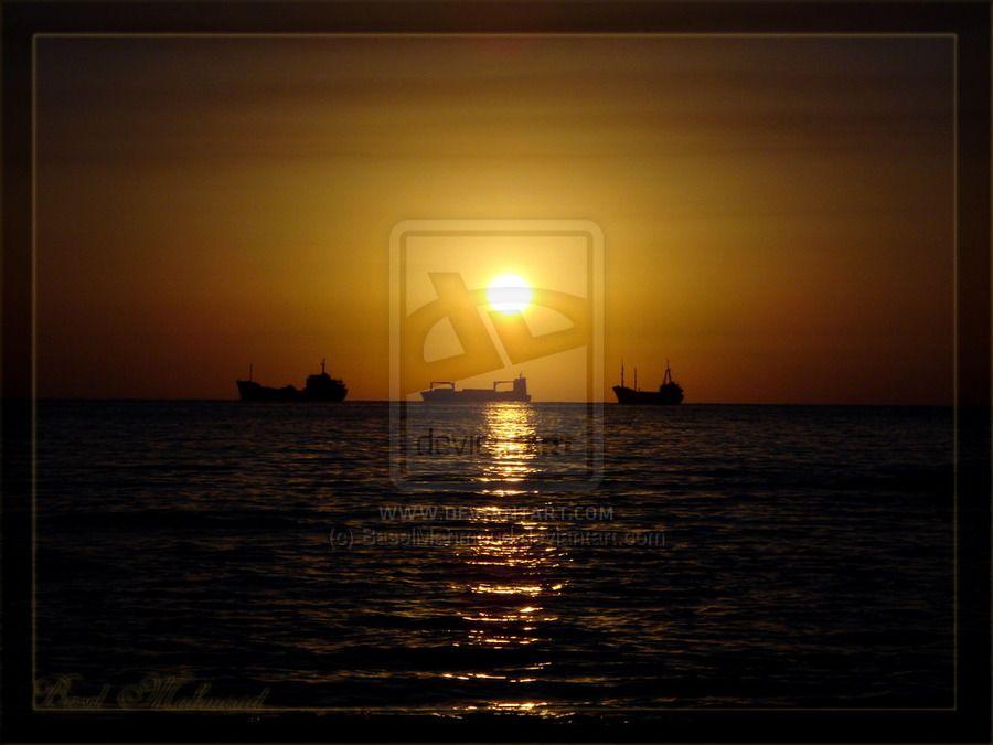 Sunset. by BaselMahmoud on deviantART