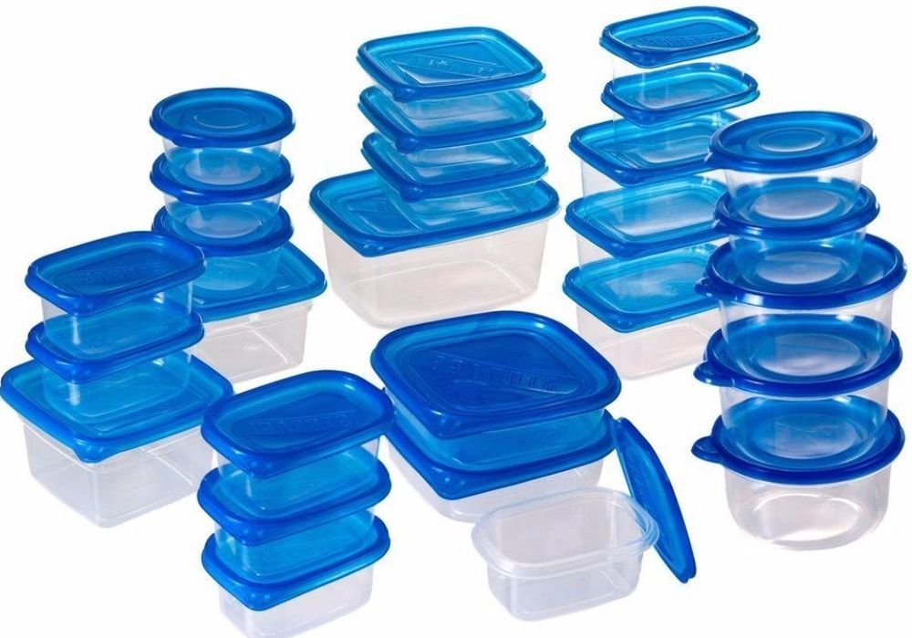 54 Piece Food Storage Container Set with Air Tight Lids Dishwasher