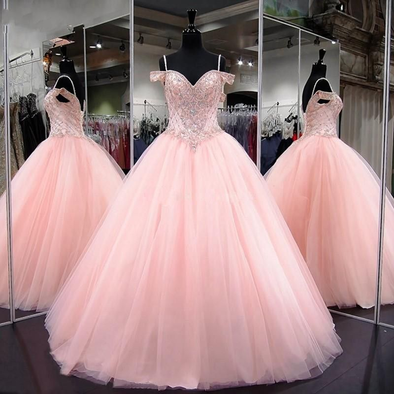 US $279.0 |Pink Quinceanera Dress 2019 Modest Masquerade Ball Gown Party Dresses Sweet 16 Gowns|Quinceanera Dresses|Weddings & Events - AliExpress