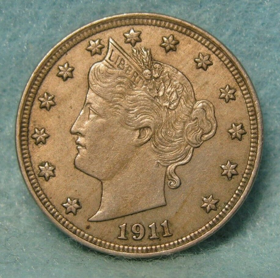 1911 LIBERTY V NICKEL CHOICE XF-AU * US Coin | U  S  Coins and