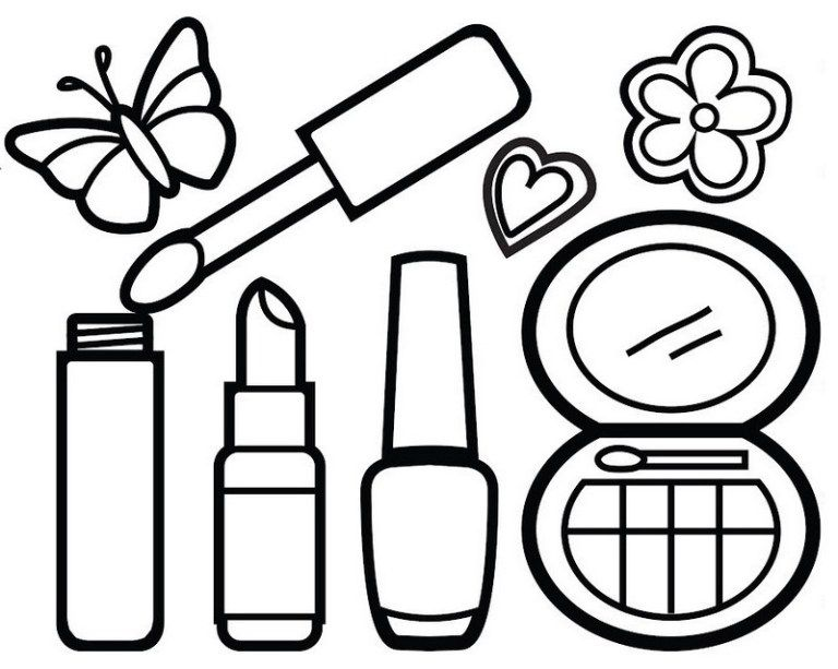 Awesome Makeup Kit Coloring Page For Your Little Princess Princess Coloring Pages Coloring Pages Princess Coloring