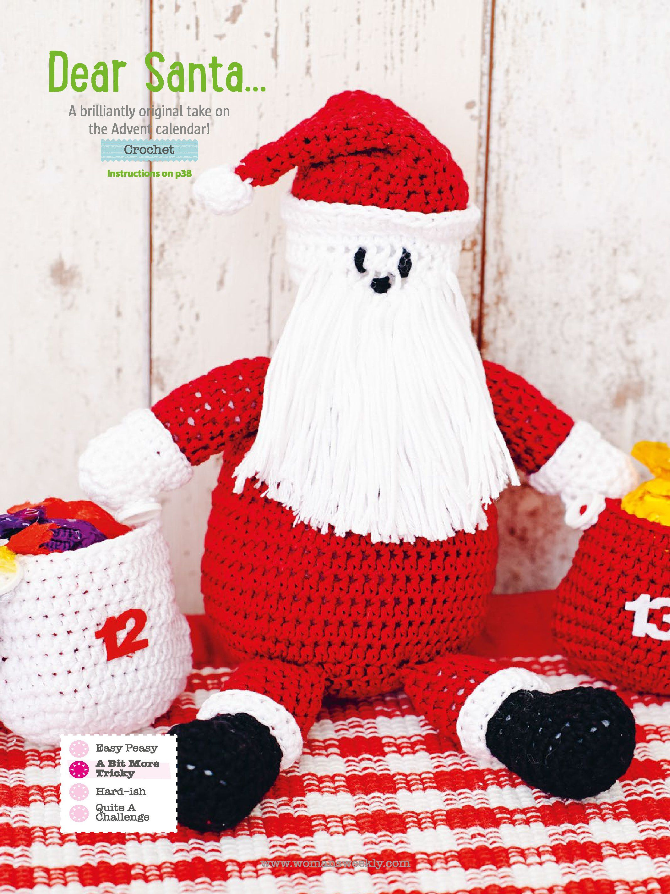 Santa Claus and Advent Calender Crochet Pattern | Christmas ...