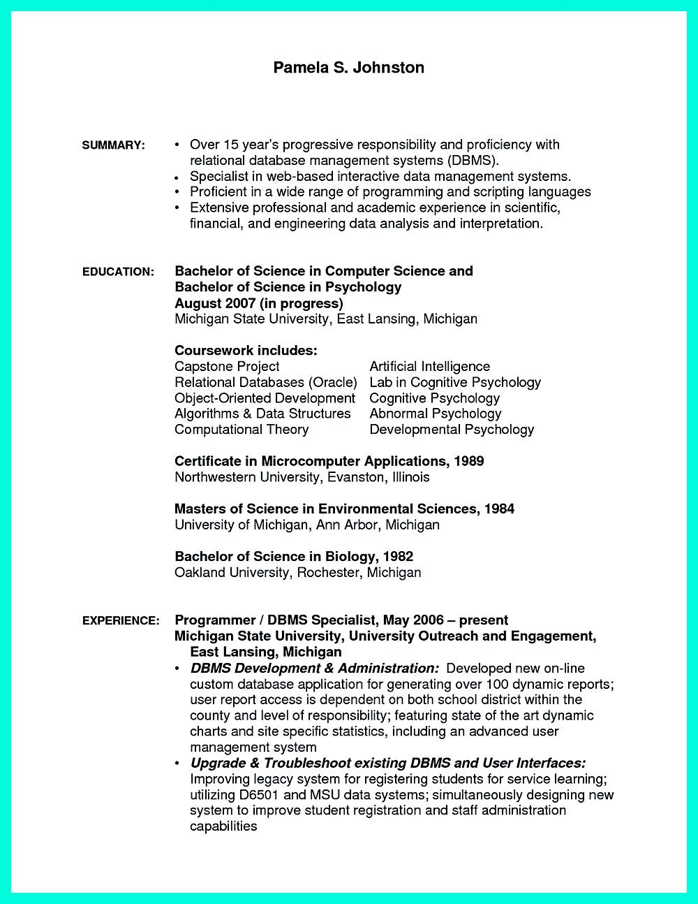 Computer Programmer Resume Computer Programmer Resume Has Some Paragraphs That Focuses On The