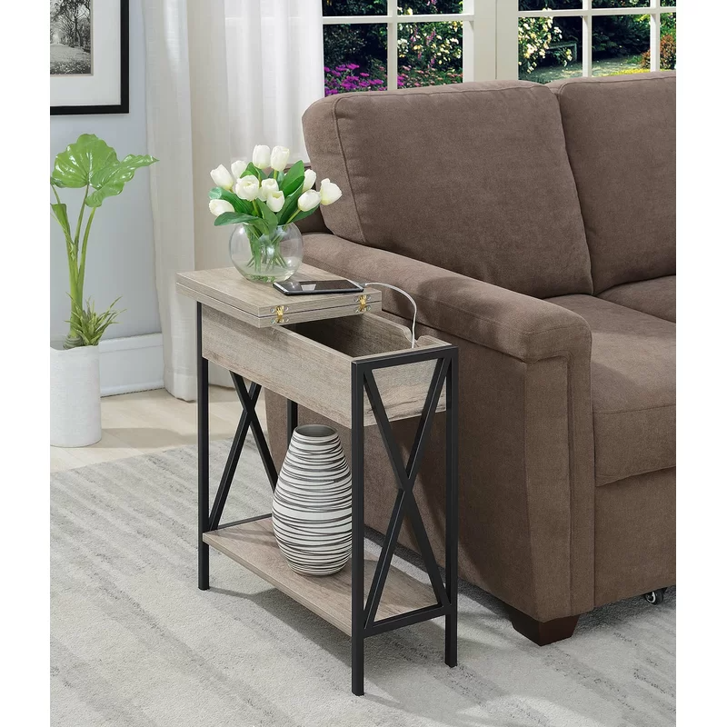 Abbottsmoor End Table With Built In Outlets In 2020 Living Room End Tables Furniture End Tables