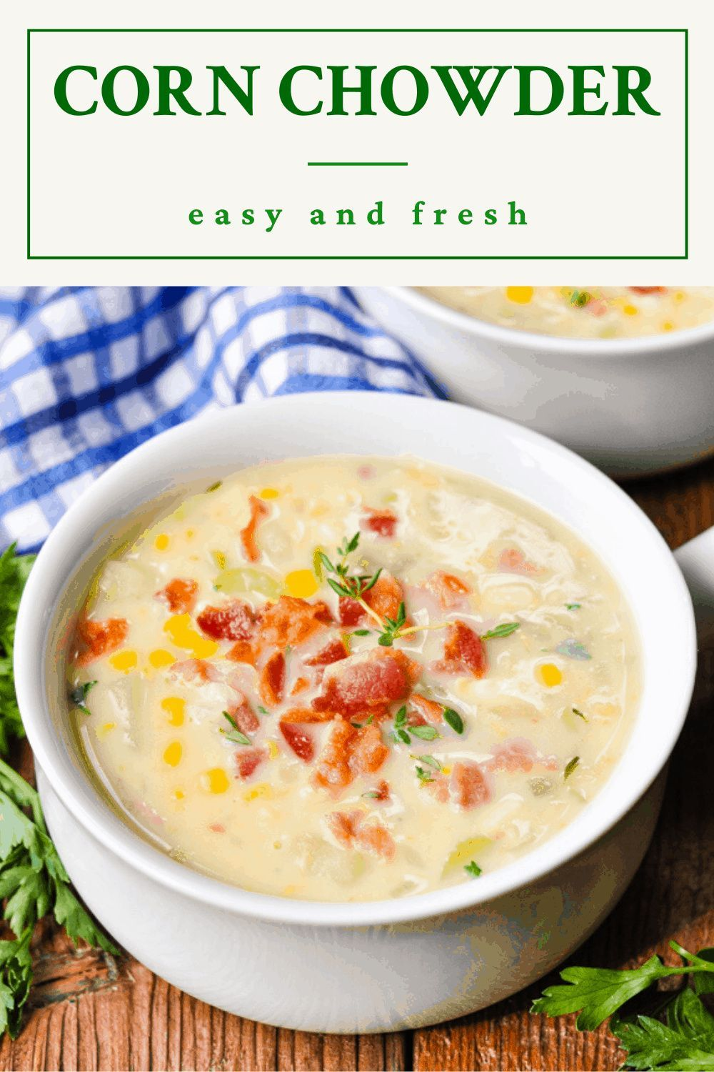 Corn Chowder Recipe Recipe In 2020 Corn Chowder Chowder Recipes Recipes