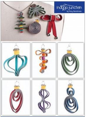 Zipper Art Pin Pattern My Christmas Zips Craft Ideas I Like