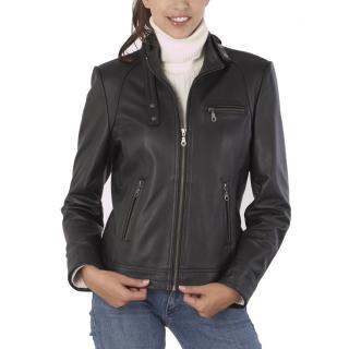 Womens Outerwear Trend2wear Xyz Leather Jackets Women Studded Leather Jacket Womens Biker Jacket