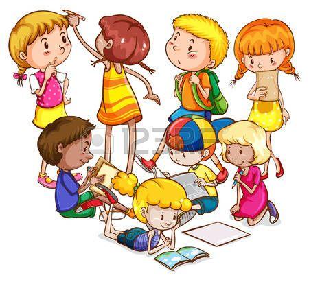 Best Imagenes De Dibujos De Niños Estudiando Image Collection