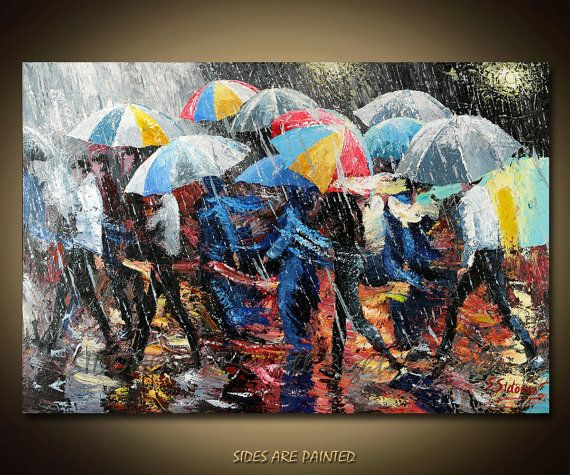 Painting Oil  Large ORIGINAL contemporary fine art by sidorovart, $395.00