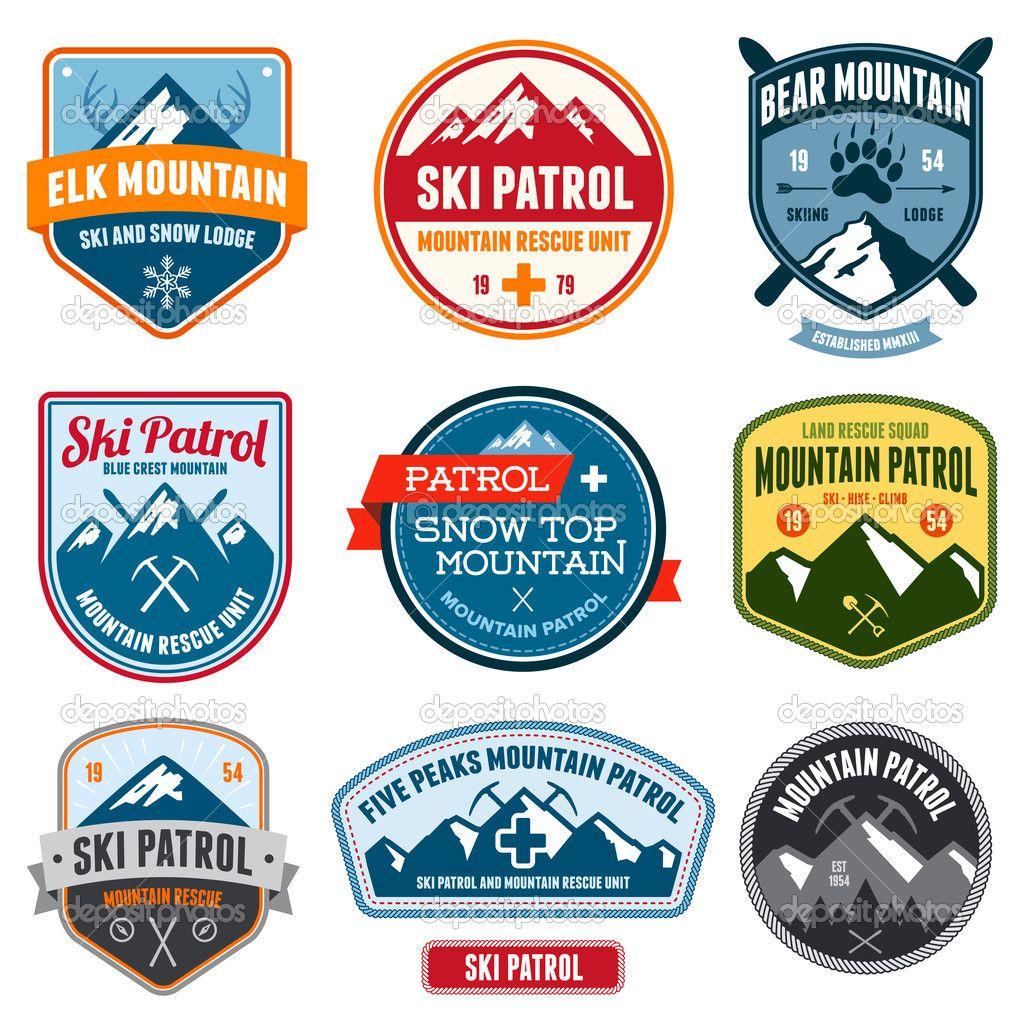 Ski badges design Download