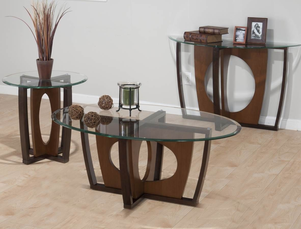 Ellipse Contemporary Cherry Wood Coffee Table Set Coffee Table Wood Cocktail Table Oak Coffee Table [ 900 x 1182 Pixel ]