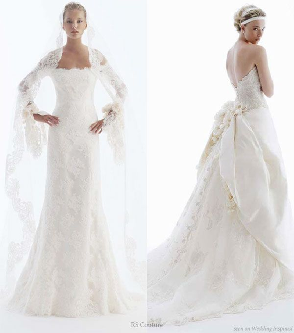 Wedding In Color by RS Couture Wedding dress White wedding