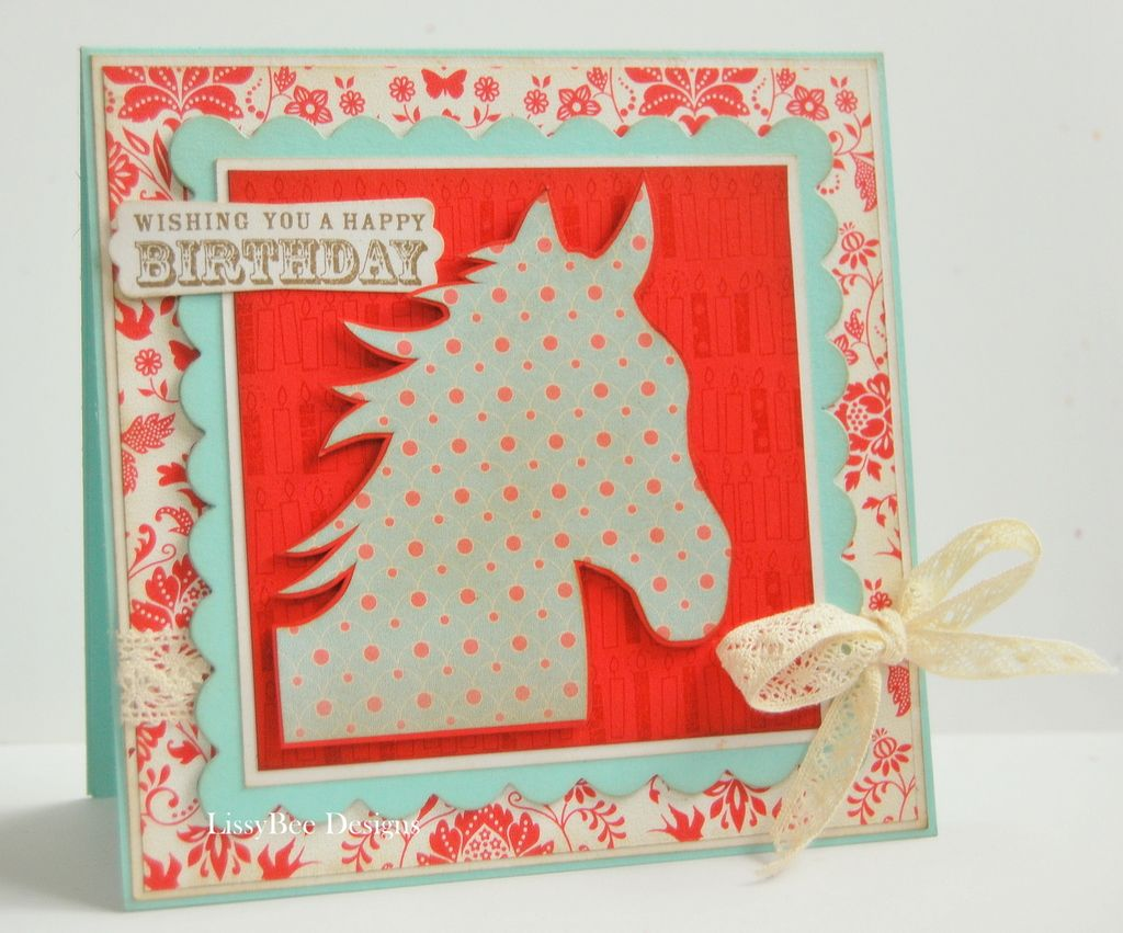 Horse birthday cards my sweet miss relle is turning 9 tomorrow posts about childrens birthday card on lissybee designs kristyandbryce Images