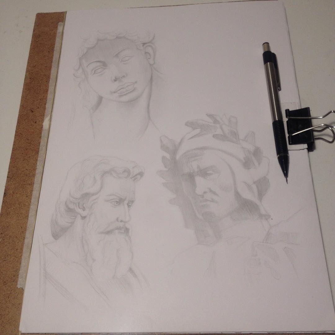 Sketching statues pencil drawing hashtag