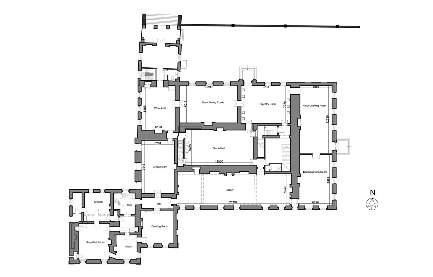 Furthermore medieval manor house on floor plans with central - St Giles House St Giles Wimborne Dorset Ground Floor Plan