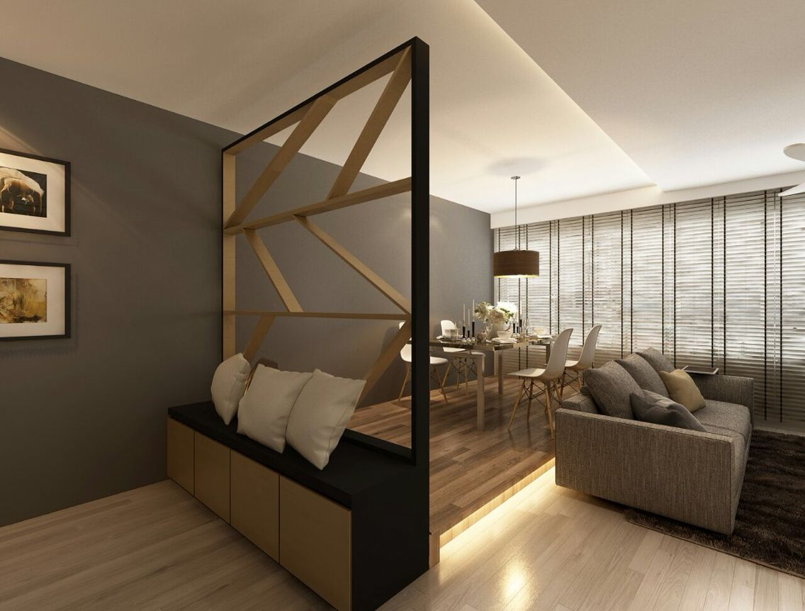 fabulous living room partition designs | final design of HDB 5 room living room :) by control space ...