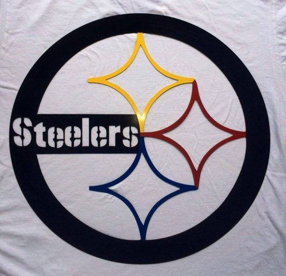 Steelers Wall Art 24 inch pittsburgh steelers wall art cut from 16 gauge steel with
