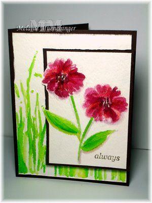 Hands Head And Heart Versamark Watercoloring Tutorial Watercolor Greeting Cards Handmade Watercolor Cards