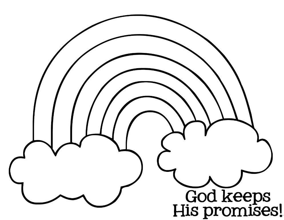 Printable Rainbow Coloring Pages For Kids Thoughtfulcardsender Sunday School Coloring Pages Rainbow Bible Bible Coloring Pages